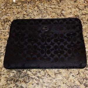 Coach laptop sleeve